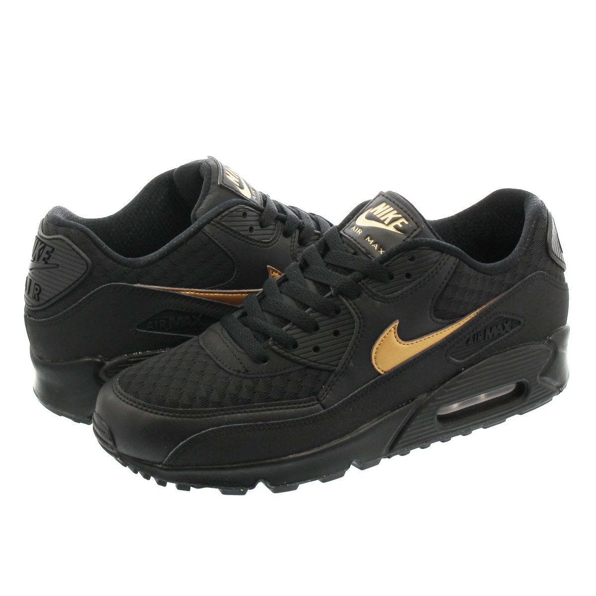 c30dc36992fc NIKE AIR MAX 90 ESSENTIAL Kie Ney AMAX 90 essential BLACK METALLIC GOLD  av7894-001