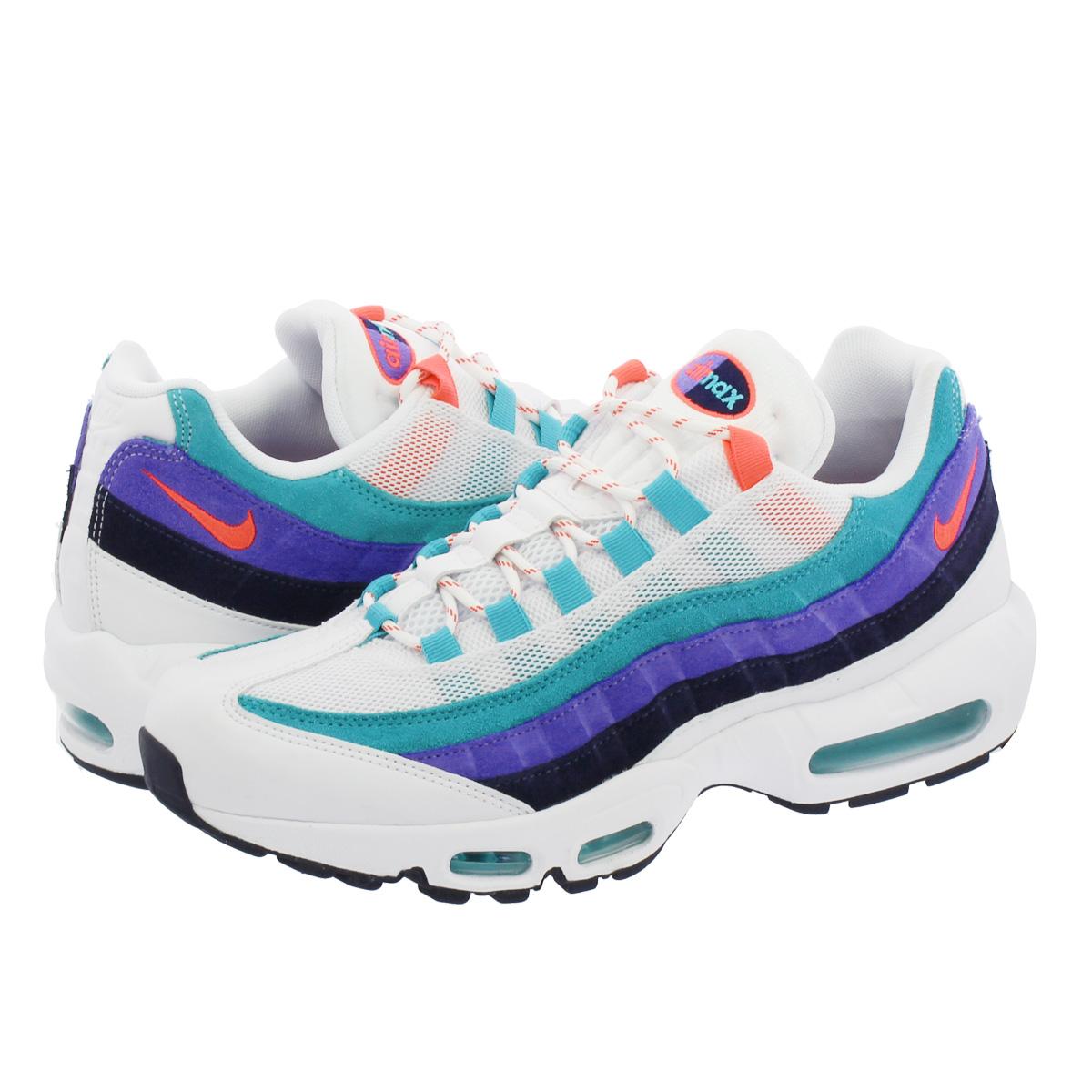 cheap for discount f8b64 a4ec1 Nike Air Max 95 Essential Ultramarine White Black Solar Red 749766 106 DW  Clothing, Shoes   Accessories Football