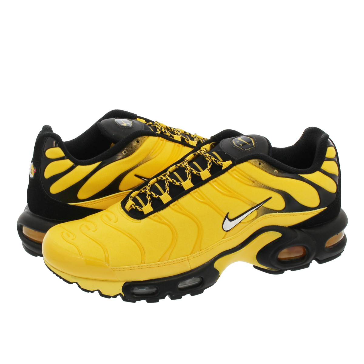 nike air max plus black and yellow