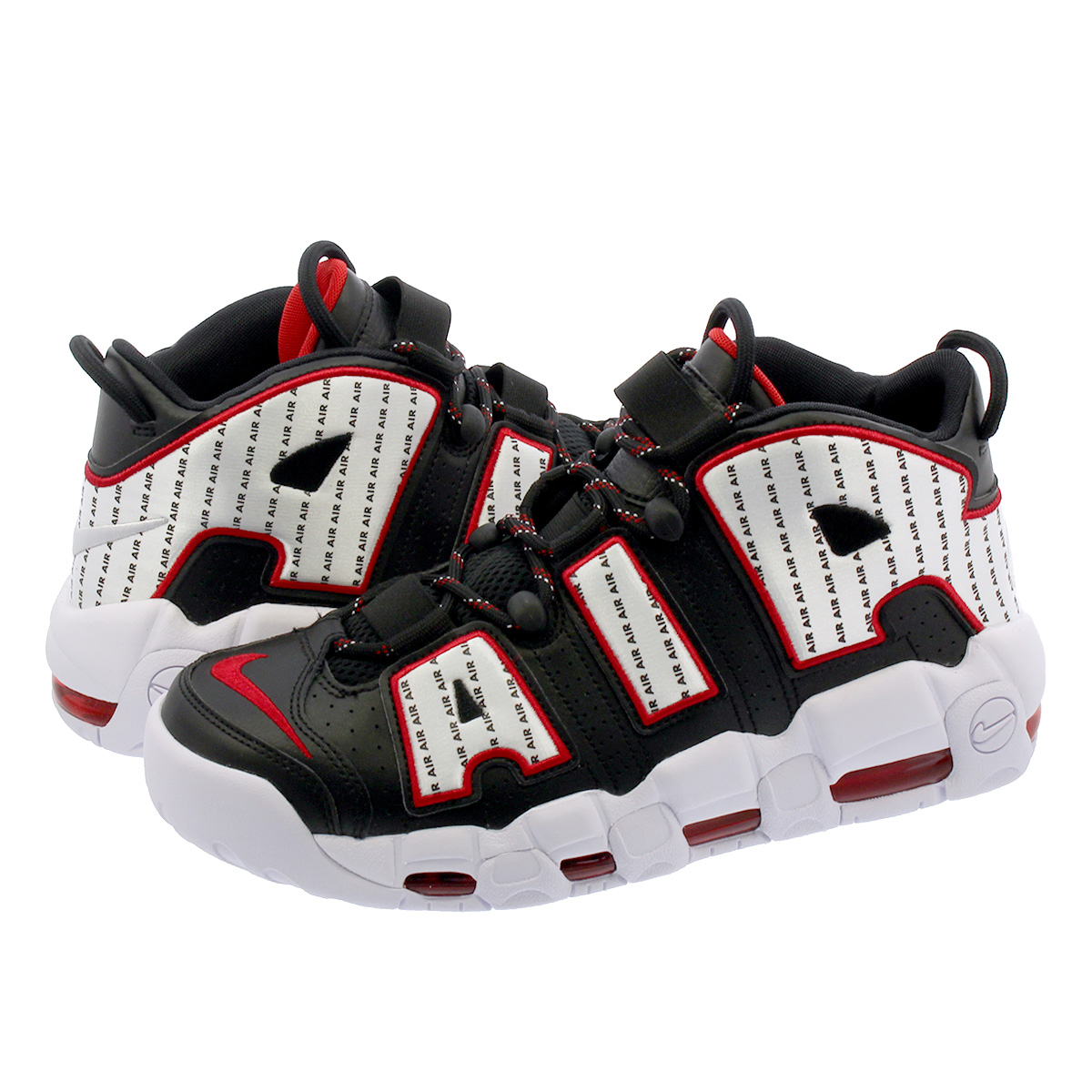 NIKE AIR MORE UPTEMPO 96 【PINSTRIPE】 ナイキ エア モア アップ テンポ 96 BLACK/WHITE/UNIVERSITY RED av7947-001