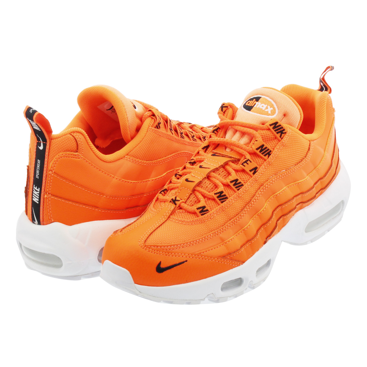 SELECT SHOP LOWTEX  NIKE AIR MAX 95 PREMIUM Kie Ney AMAX 95 premium TOTAL  ORANGE BLACK WHITE 538 a7115b088