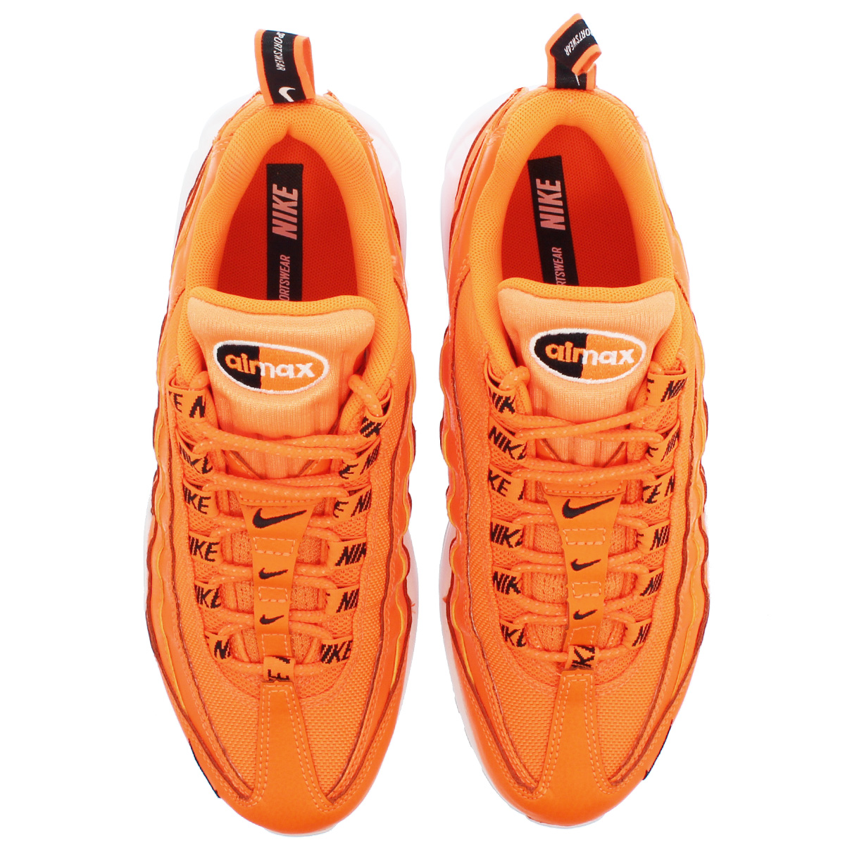 new style 5f7f9 6c597 NIKE AIR MAX 95 PREMIUM Kie Ney AMAX 95 premium TOTAL ORANGE BLACK WHITE  538,416-801