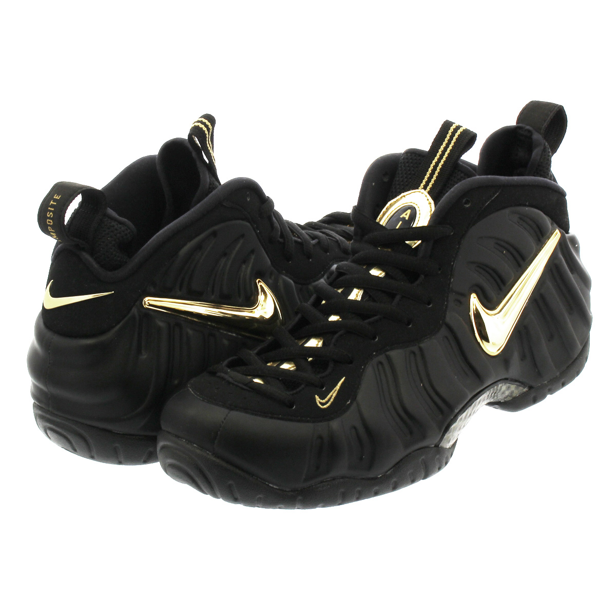 new product ed2a3 6c8f9 NIKE AIR FOAMPOSITE PRO ナイキエアフォームポジットプロ BLACK/METALLIC GOLD 624,041-009