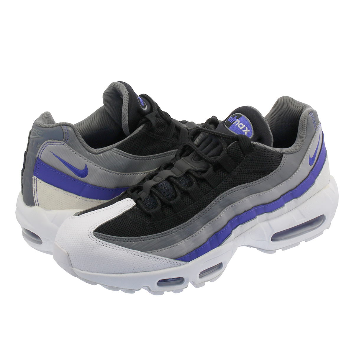 check-out 533d4 b88d3 NIKE AIR MAX 95 ESSENTIAL Kie Ney AMAX 95 essential WHITE/PERSIAN  VIOLET/COOL GREY 749,766-110