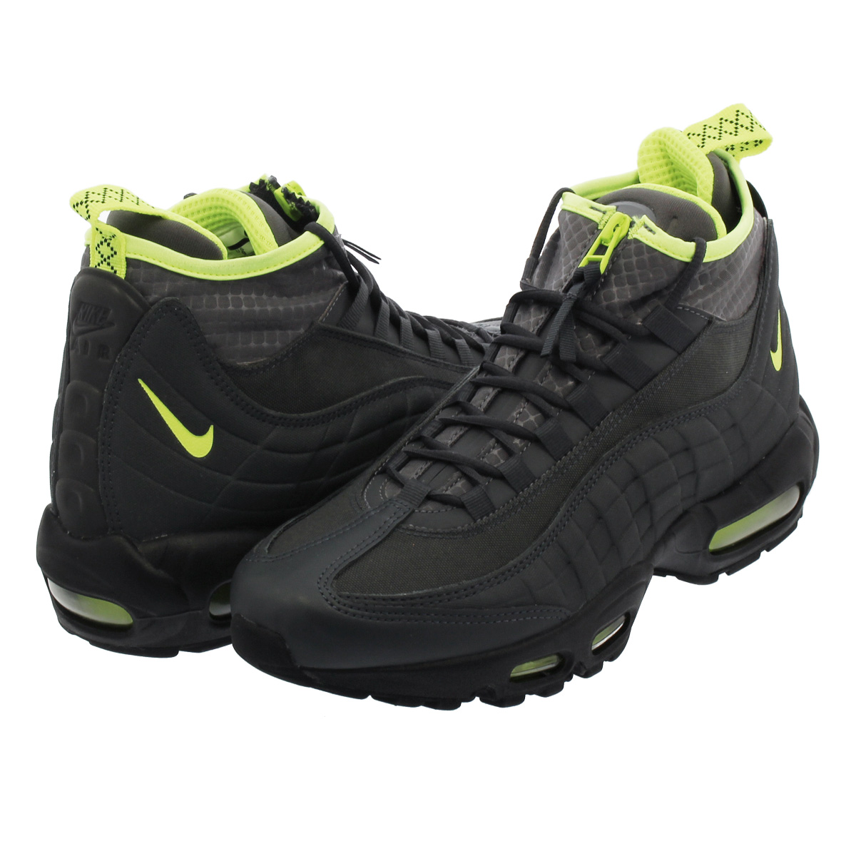 2d9e79d5a9e8 NIKE AIR MAX 95 SNEAKERBOOT Kie Ney AMAX 95 sneakers boots ANTHRACITE VOLT  DARK GREY 806