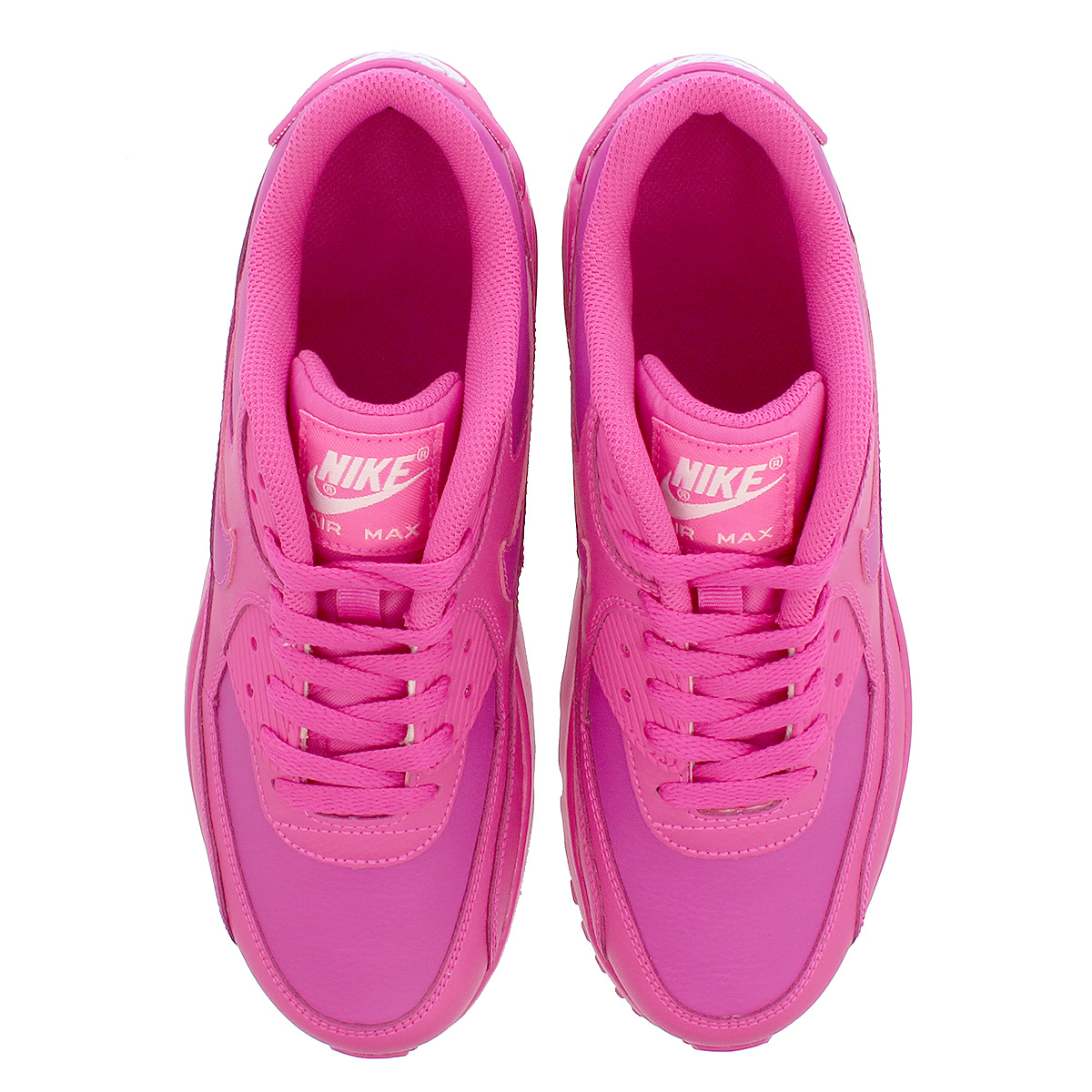 reputable site ff660 c55bd ... NIKE AIR MAX 90 LTR GS Kie Ney AMAX 90 leather GS LASER FUCHSIA LASER  ...