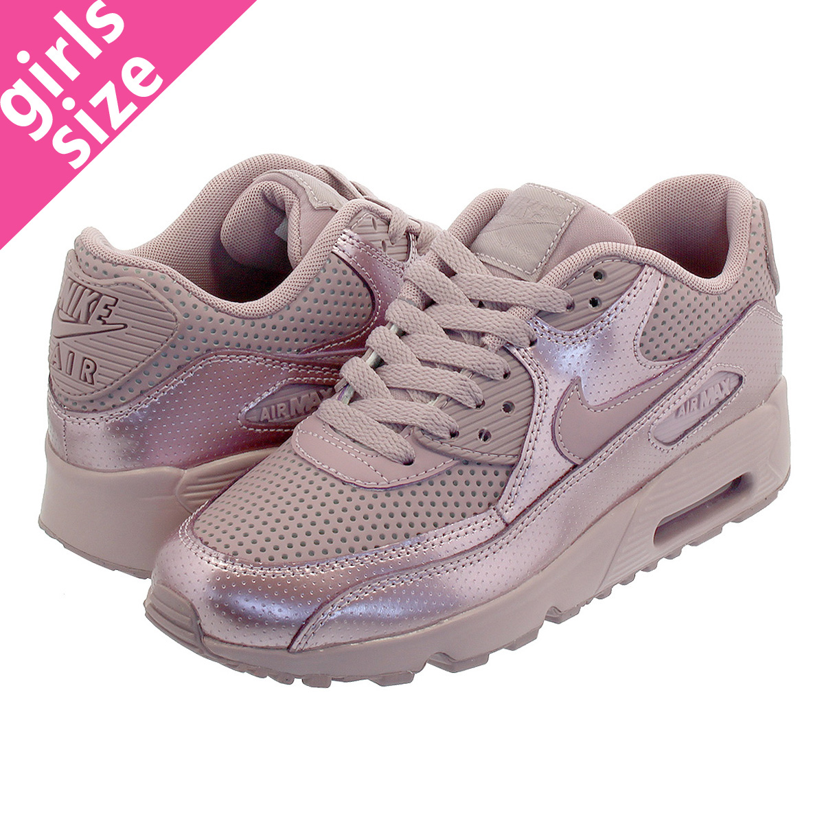 meilleures baskets 89472 72250 NIKE AIR MAX 90 SE LTR GS ELEMENTAL ROSE Kie Ney AMAX 90 SE leather GS  ELEMENTAL ROSE 859,633-600