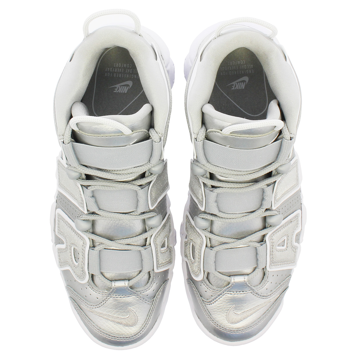 reputable site c81ca 0a731 NIKE WMNS AIR MORE UPTEMPO Nike women air more up tempo METALLIC  SILVER WHITE 917,593-003