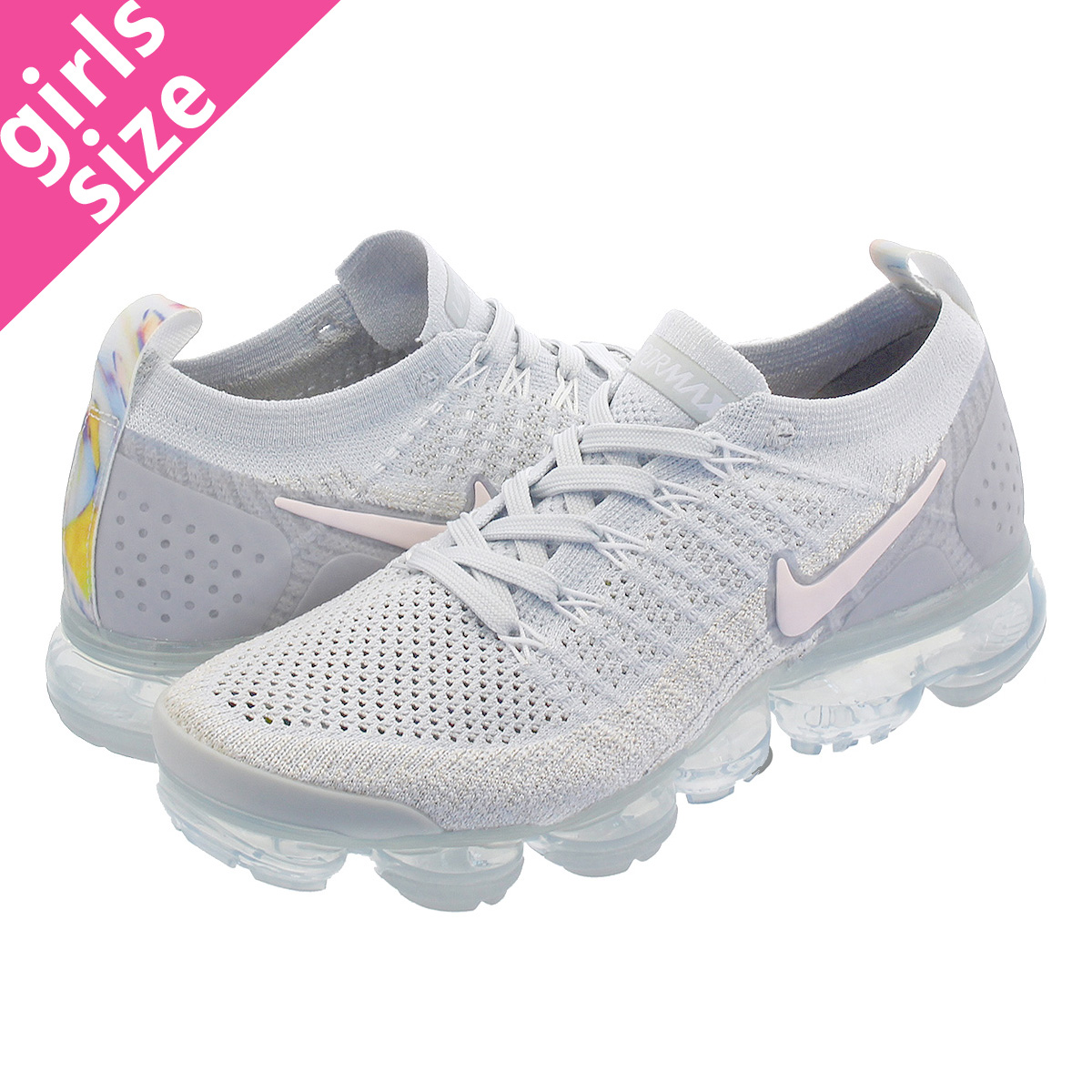 f9a14d69c98b3 NIKE WMNS AIR VAPORMAX FLYKNIT 2 Nike women vapor max fried food knit PURE  PLATINUM ARCTIC PINK WHITE 942