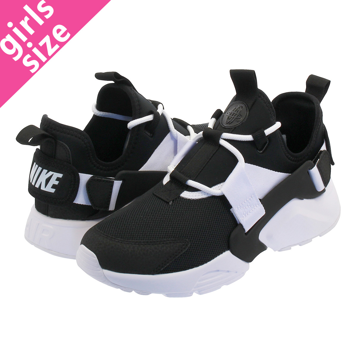 SELECT SHOP LOWTEX  NIKE WMNS AIR HUARACHE CITY LOW ナイキウィメンズエアハラチシティロー  BLACK BLACK WHITE ah6804-002  8d1e5e4b1