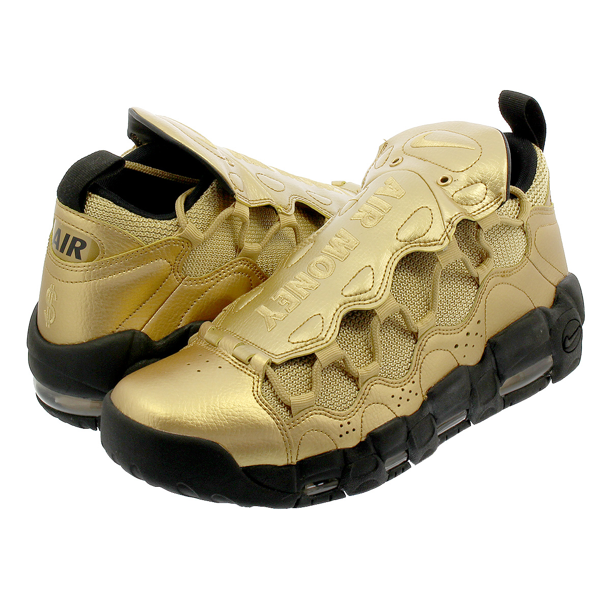 NIKE AIR MORE MONEY Nike air more money METALLIC GOLD/BLACK/METALLIC GOLD  aj2998-700