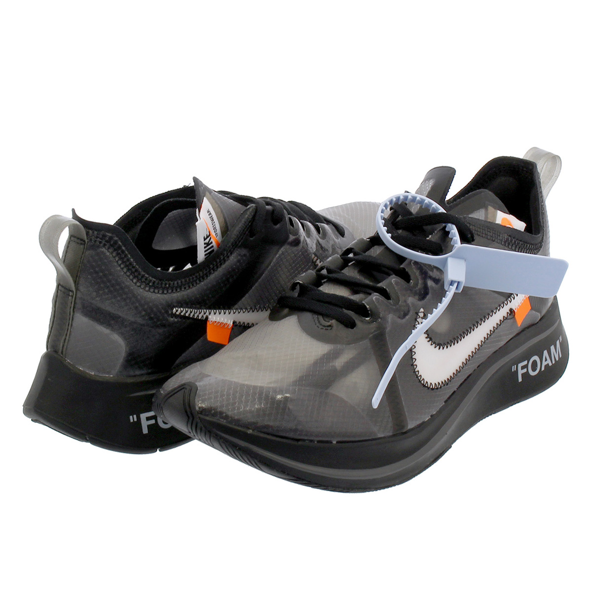 NIKE ZOOM FLY SP【THE TEN】 【OFF-WHITE】 ナイキ ズーム フライ SP オフ ホワイト BLACK/WHITE/CONE aj4588-001