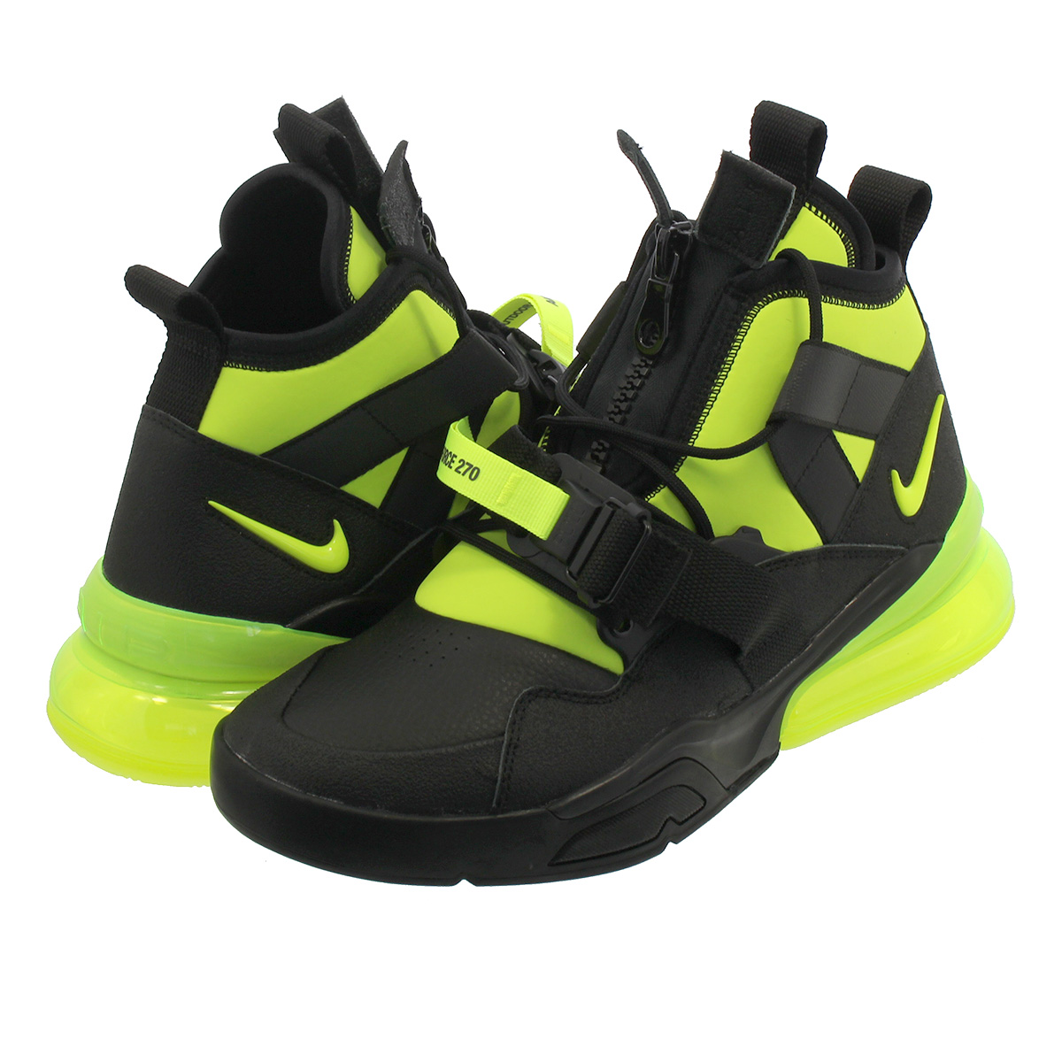 d60a0a98fd40 NIKE AIR FORCE 270 UTILITY Nike air force 270 utility BLACK VOLT aq0572-001