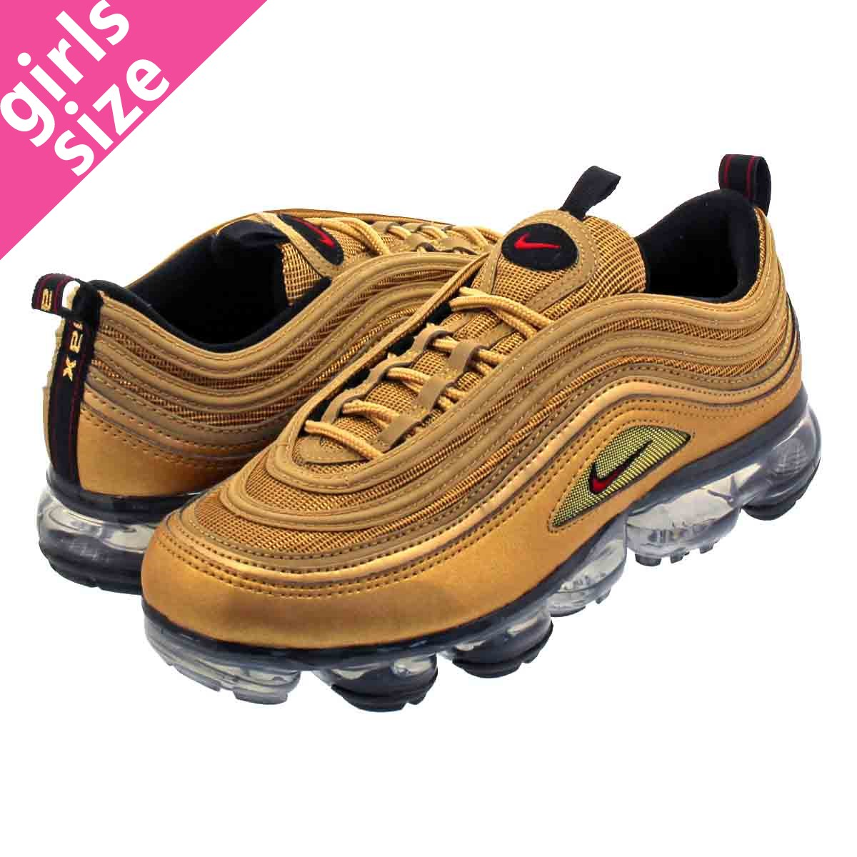 promo code 1fcde bad40 NIKE AIR VAPORMAX 97 GS Nike air vapor max 97 GS METALLIC GOLD/VARSITY  RED/BLACK/WHITE aq2657-700