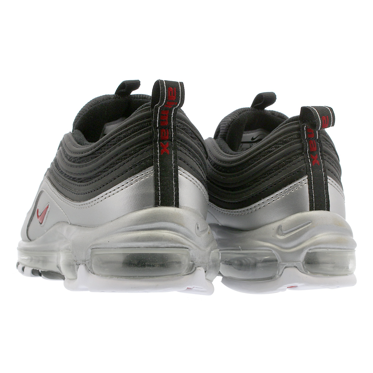 94725b357fc NIKE AIR MAX 97 QS Kie Ney AMAX 97 QS BLACK VARSITY RED METALLIC SILVER  WHITE at5458-001