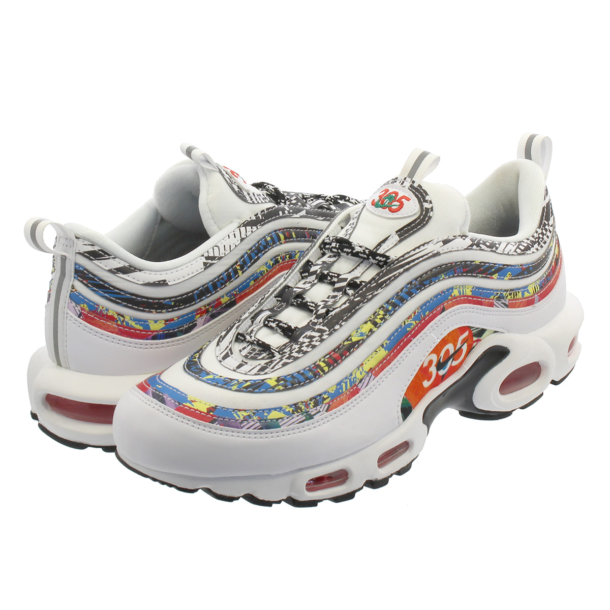 7b3813c592 SELECT SHOP LOWTEX: NIKE AIR MAX PLUS 97 Kie Ney AMAX +97 WHITE ...