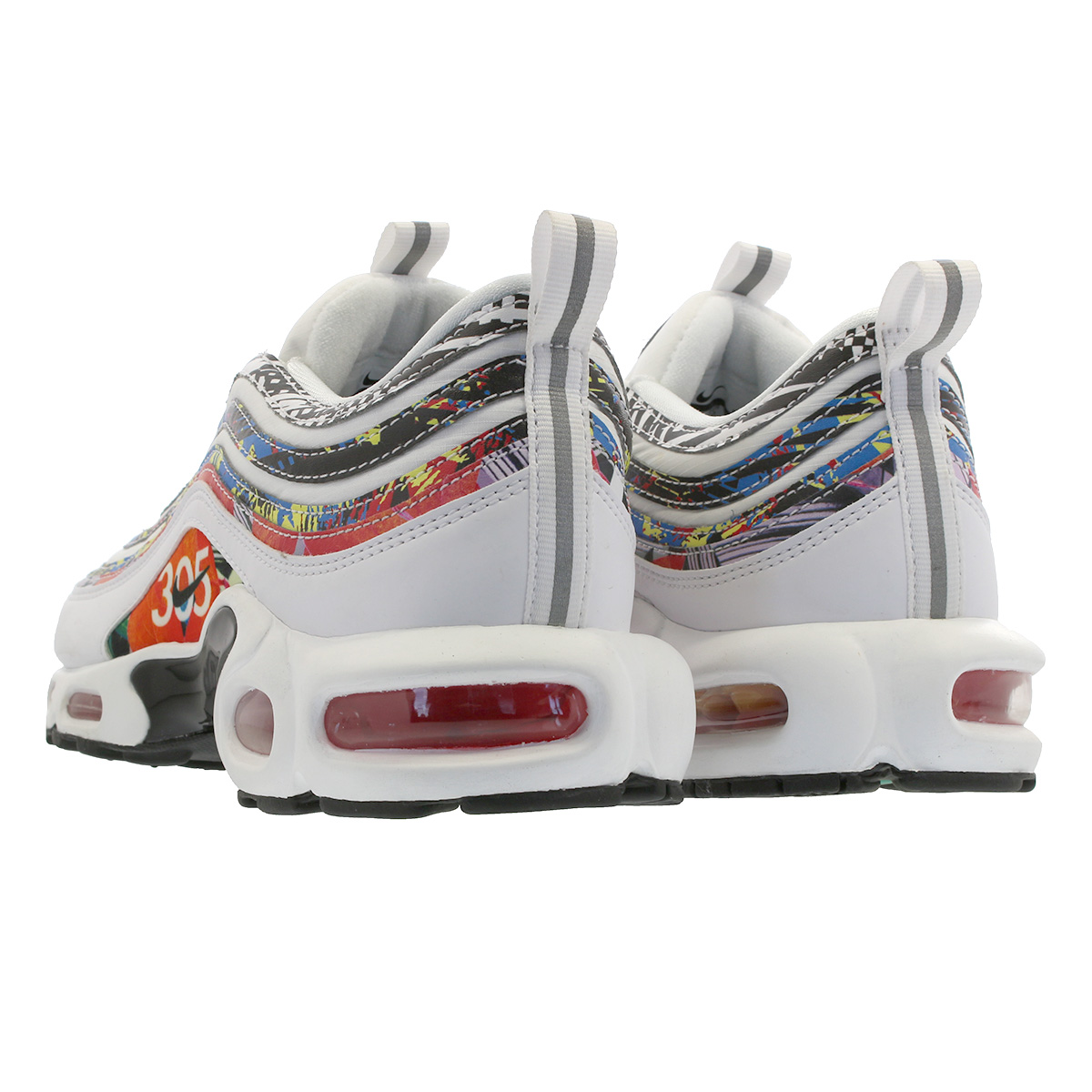 05499712f6 ... NIKE AIR MAX PLUS 97 Kie Ney AMAX +97 WHITE/BLACK/HABANERO RED ...