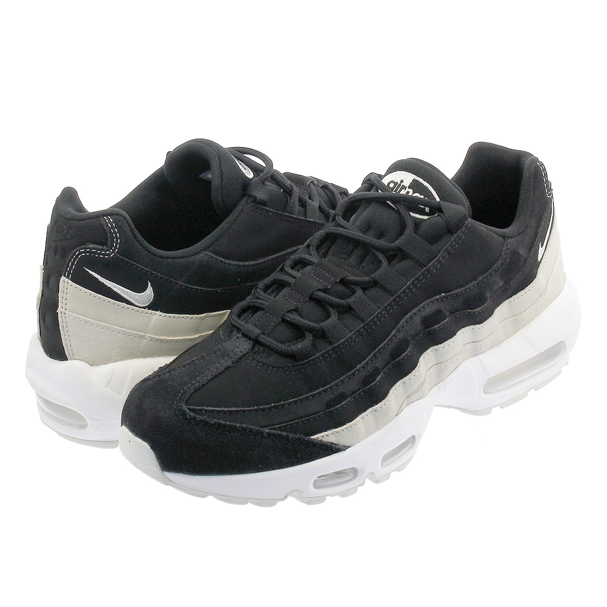 best service 2094d 05043 NIKE WMNS AIR MAX 95 PRM Nike women Air Max 95 premium BLACK/SPRUCE  AURA/SUMMIT WHITE 807,443-017