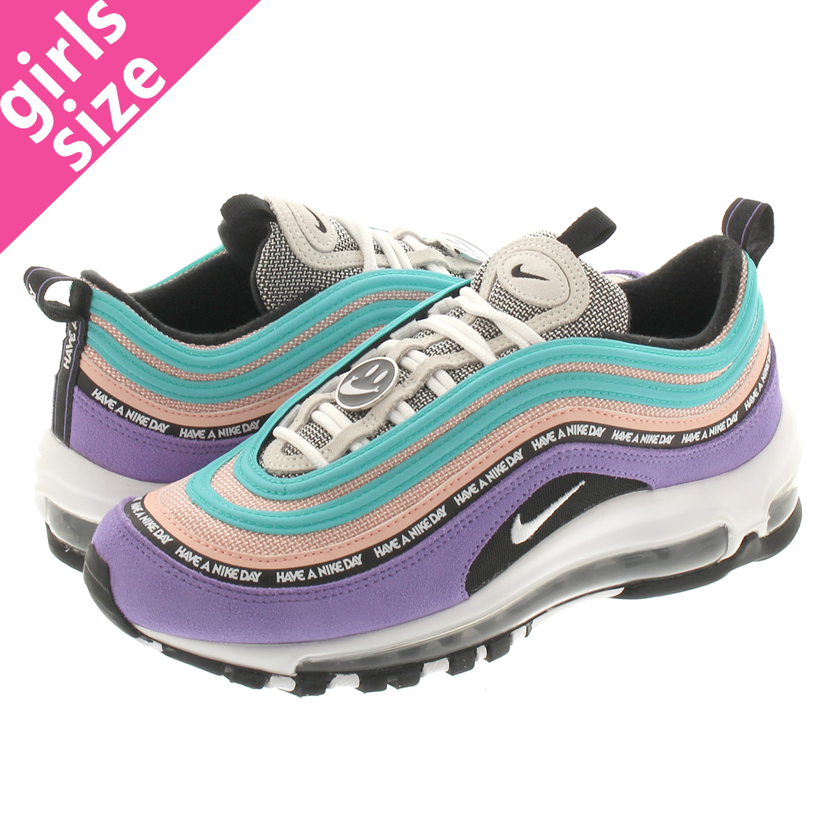 finest selection de7cc 4cd31 NIKE AIR MAX 97 SE GS Kie Ney AMAX 97 SE GS SPACE PURPLE/WHITE/BLACK  923,288-500