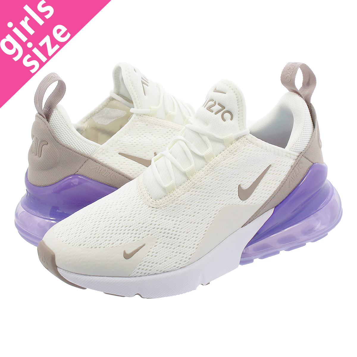 buy online 667a2 c5b0f NIKE WMNS AIR MAX 270 Nike women Air Max 270 SAIL/PUMICE/SPACE PURPLE/WHITE  ah6789-107