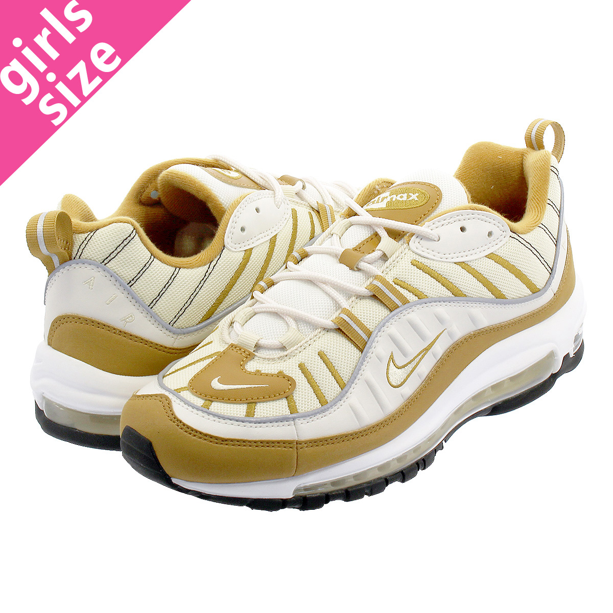 separation shoes a1296 89348 NIKE WMNS AIR MAX 98 Nike women Air Max 98 PHANTOMBEACHWHEATREFLECT  SILVER ah6799-003