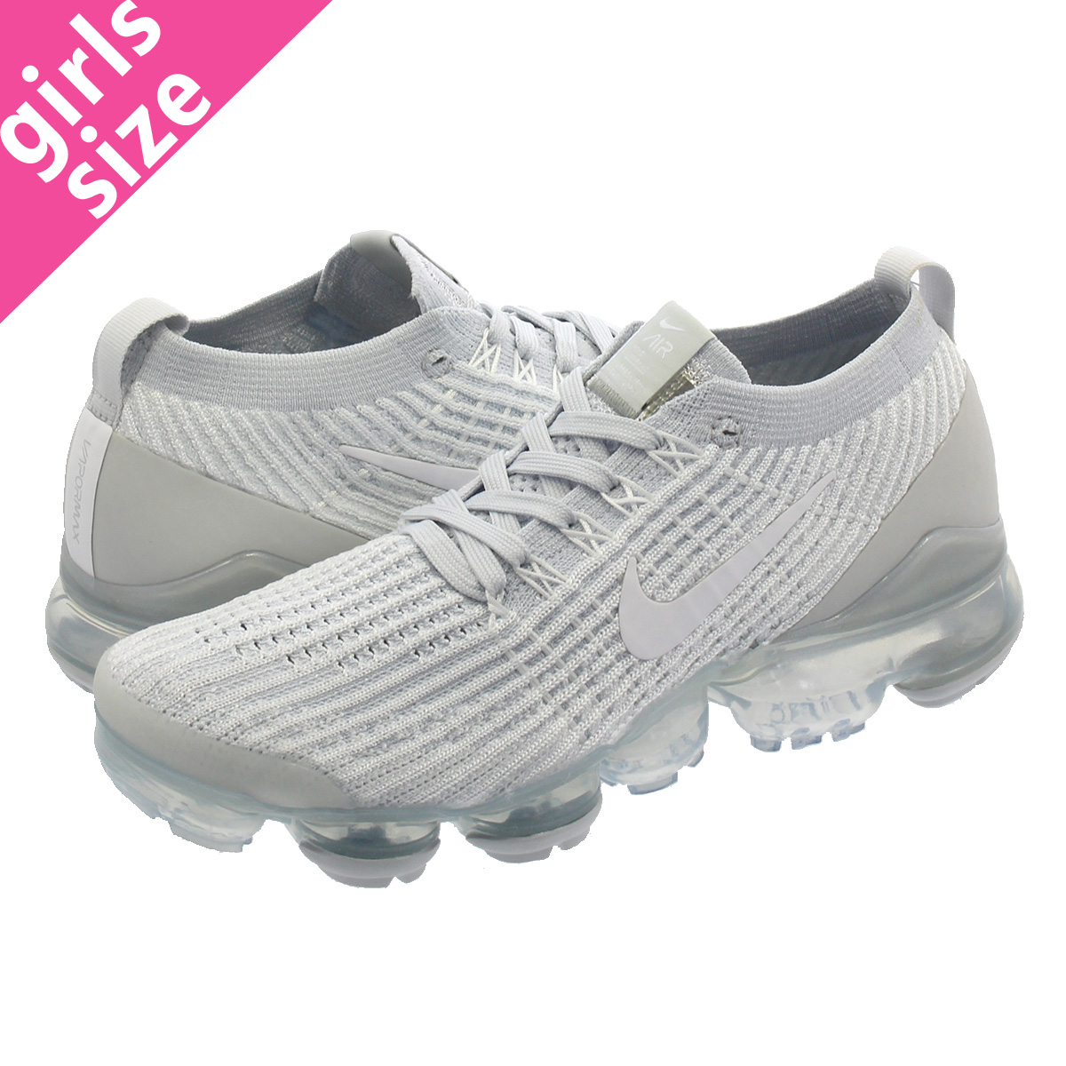 factory price 7b804 173f3 NIKE WMNS AIR VAPORMAX FLYKNIT 3 Nike women vapor max fried food knit 3  WHITE/WHITE/PURE PLATINUM/METALLIC SILVER aj6910-100