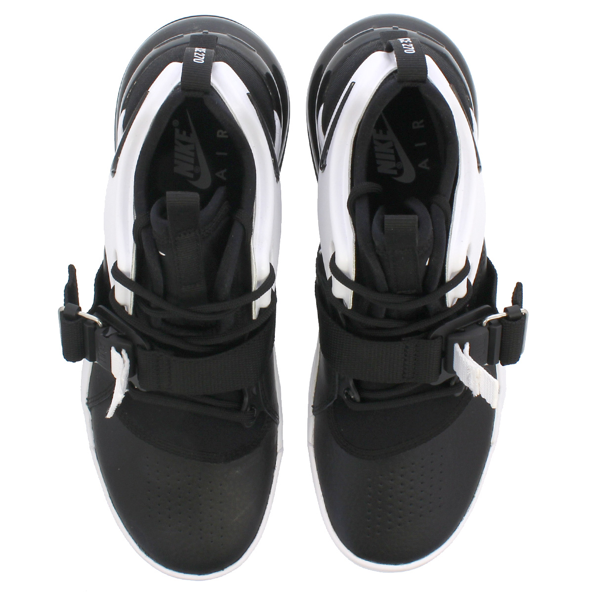 Multi Size Nike Air Force 270 Big Kids Shoes Black White Anthracite AJ8208-001