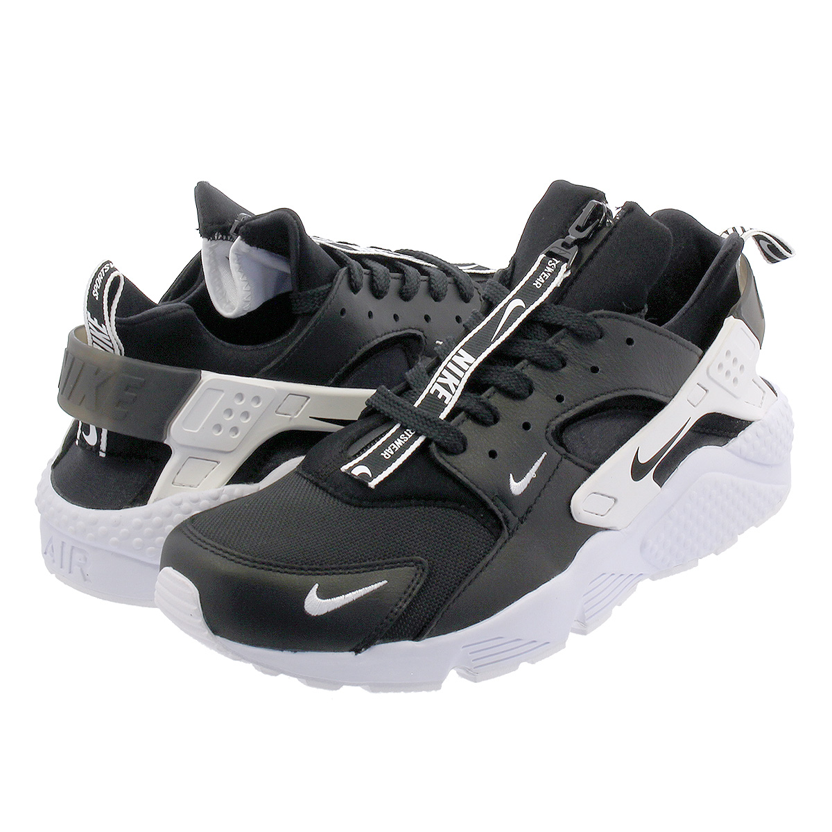 5cae7bd69 NIKE AIR HUARACHE RUN PRM ZIP ナイキエアハラチランプレミアムジップ BLACK/BLACK/WHITE ...