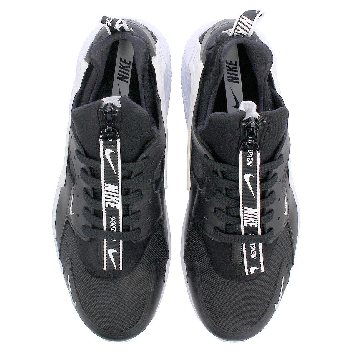 NIKE AIR HUARACHE RUN PRM ZIP ナイキエアハラチランプレミアムジップ BLACKBLACKWHITE bq6164 001