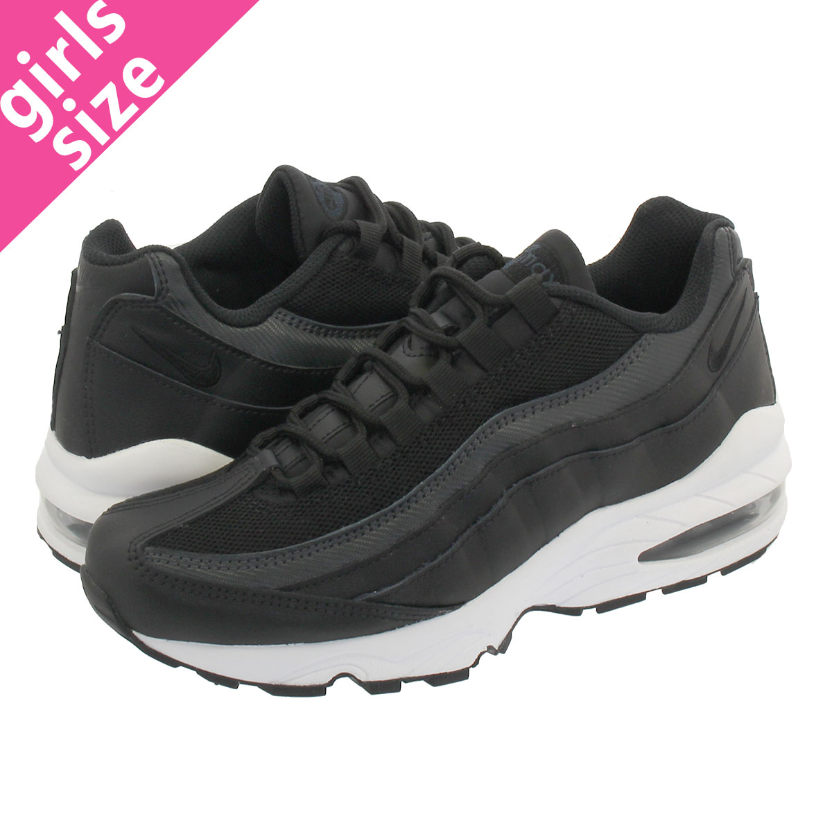 classic fit 1aae1 6399e NIKE AIR MAX 95 EP GS Kie Ney AMAX 95 EP GS BLACK/BLACK/ANTHRACITE/WHITE  bv0041-001