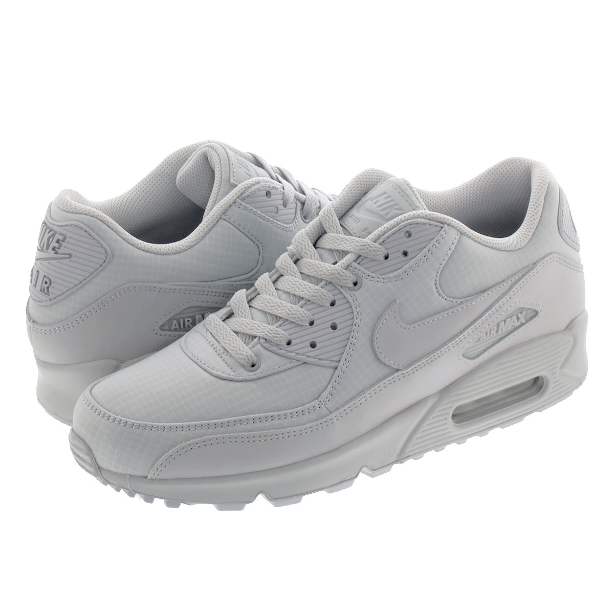 NIKE AIR MAX 90 ESSENTIAL Kie Ney AMAX 90 essential WOLF GREYWOLF GREYWOLF GREY 537,384 068