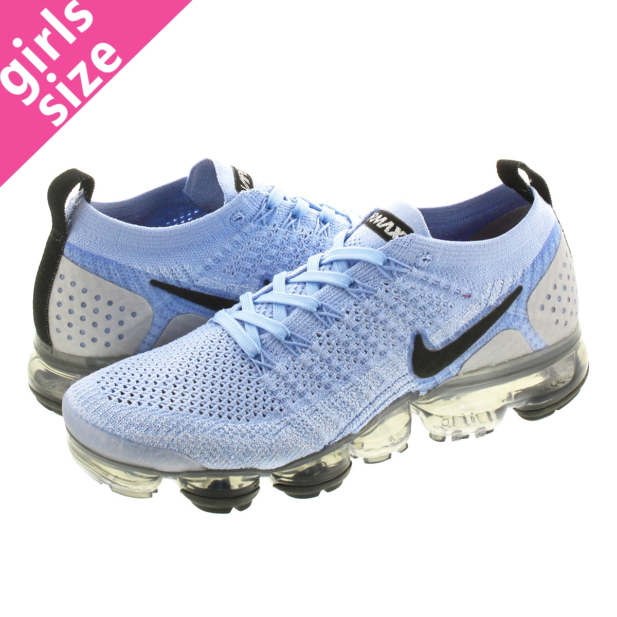 NIKE WMNS AIR VAPORMAX FLYKNIT 2 ナイキ ウィメンズ ヴェイパー マックス フライニット 2 ALMINUM/BLACK/METALIC SILVER 942843-402