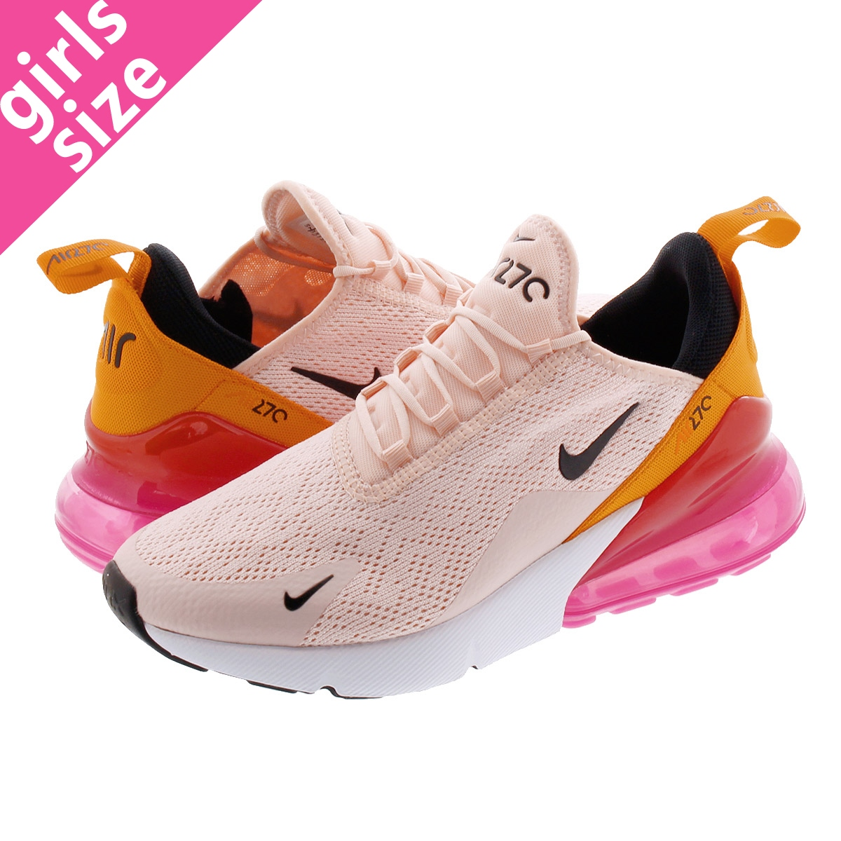 check out 1098f 3f8d8 NIKE WMNS AIR MAX 270 Nike women Air Max 270 WASHED CORAL/BLACK/LASER  FUCHSIA ah6789-603