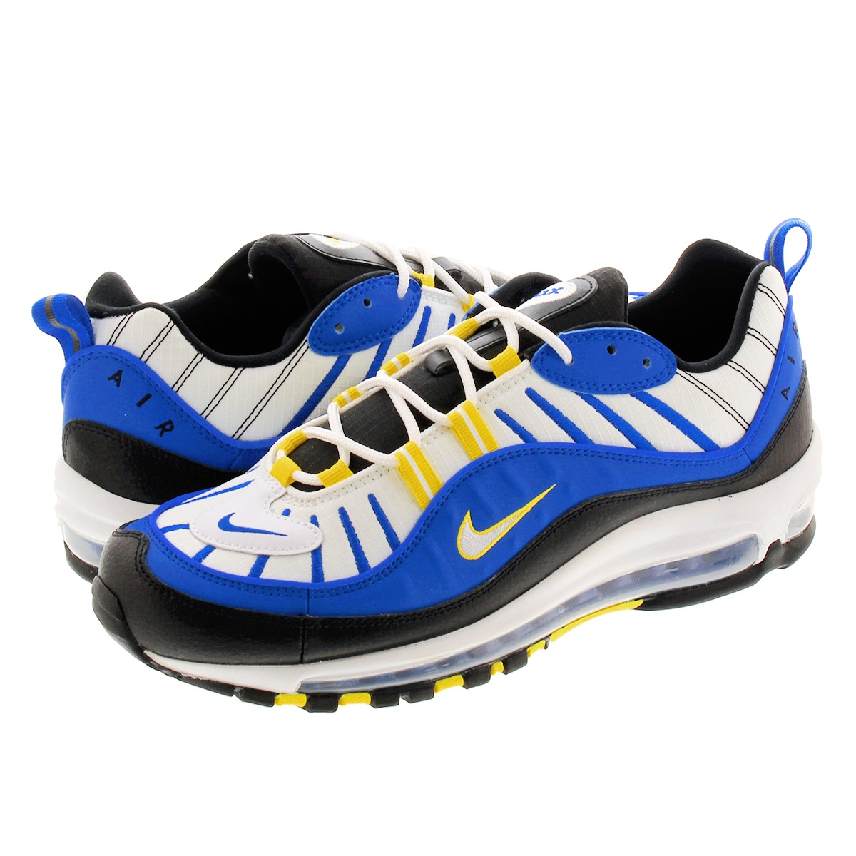 nike air max 98 blue black and white