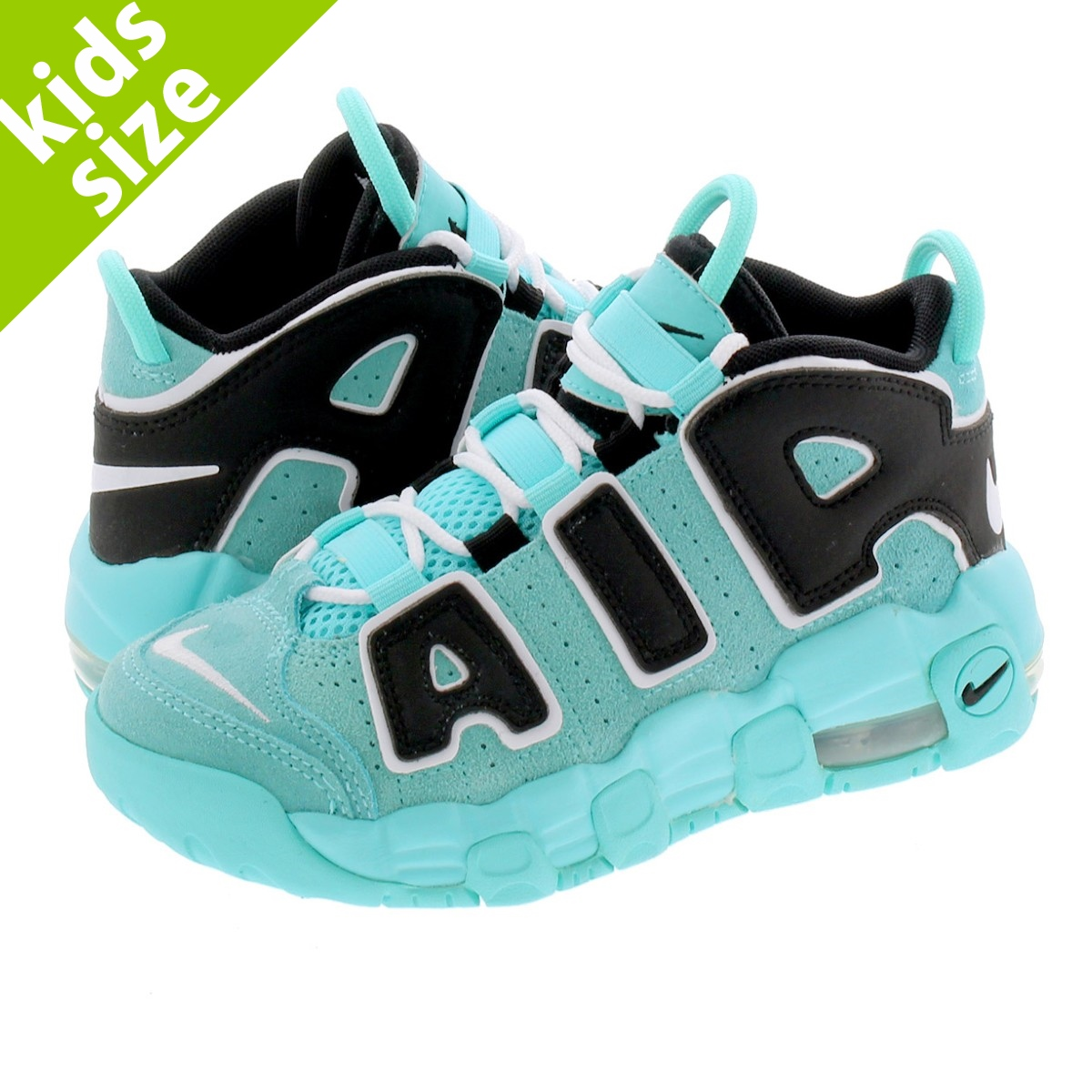 【キッズサイズ】【16.0~22.0cm】 NIKE AIR MORE UPTEMPO PS ナイキ モア アップ テンポ PS LIGHT AQUA/BLACK/WHITE aa1554-403