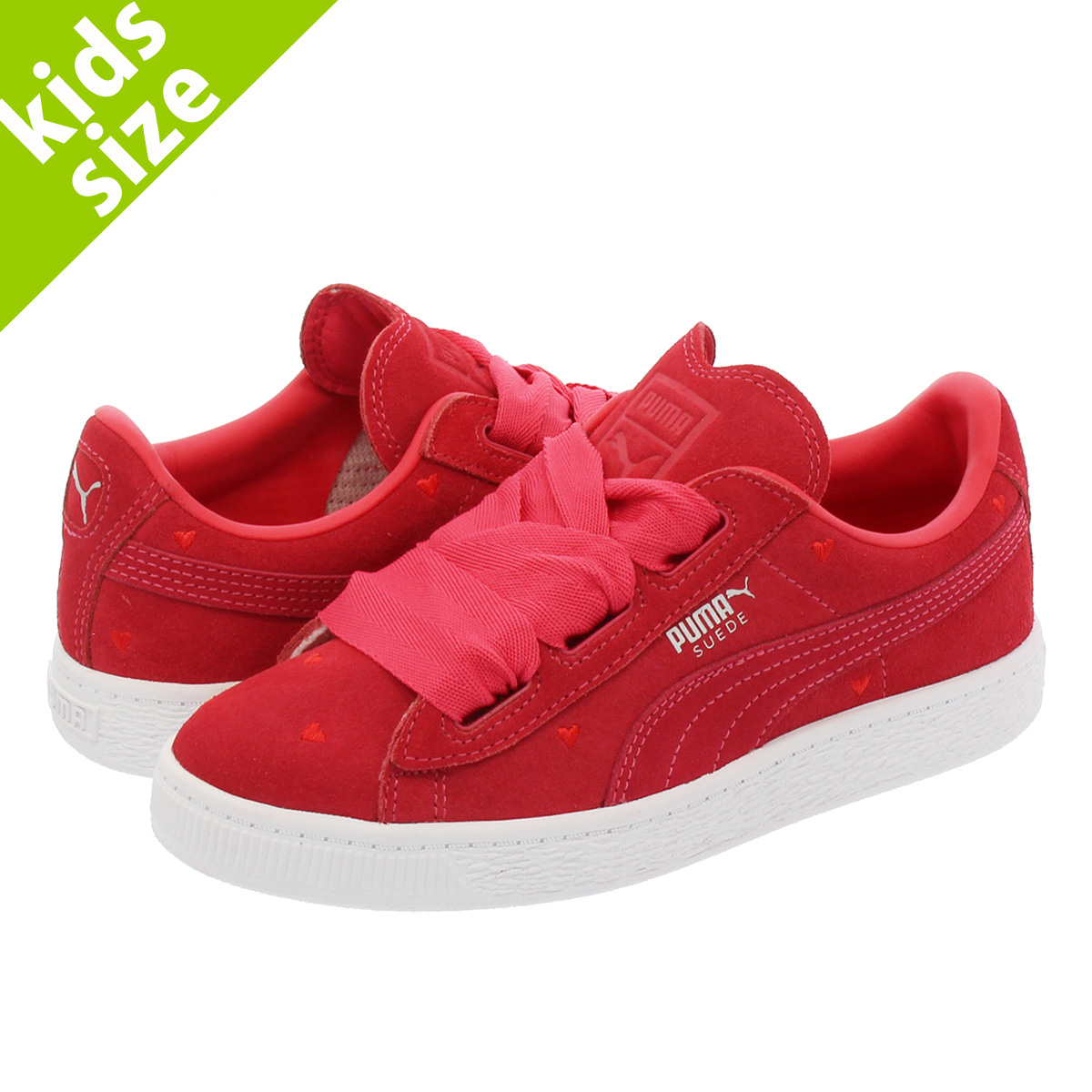 on sale ccb16 c7730 PUMA SUEDE HEART VALENTINE PS Puma suede cloth heart Valentine PS PARADISE  PINK/PARADISE PINK 365,136-01