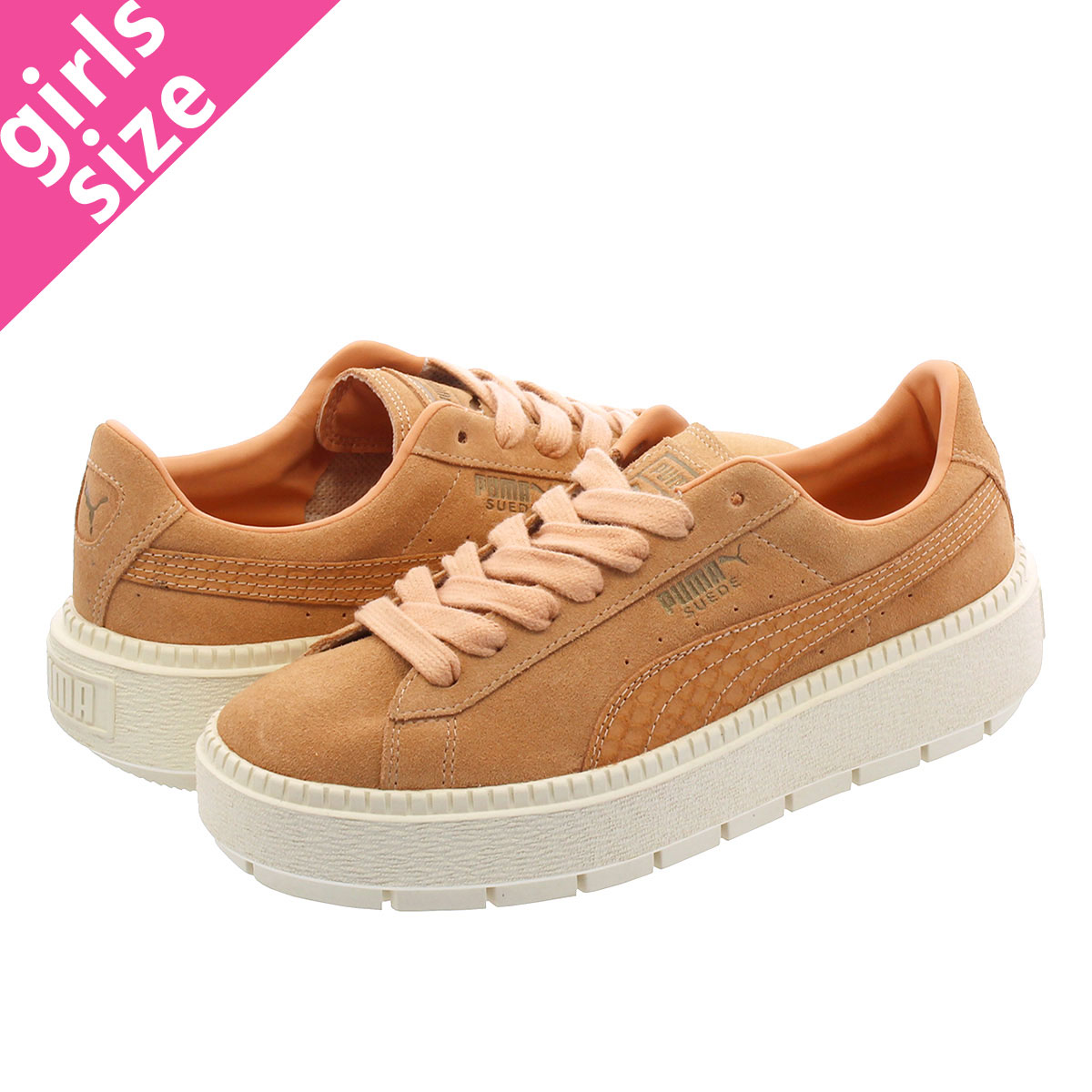 4ff42f4e5b2a SELECT SHOP LOWTEX  PUMA SUEDE PLATFORM TRACE ANIMAL DUSTY CORAL ...
