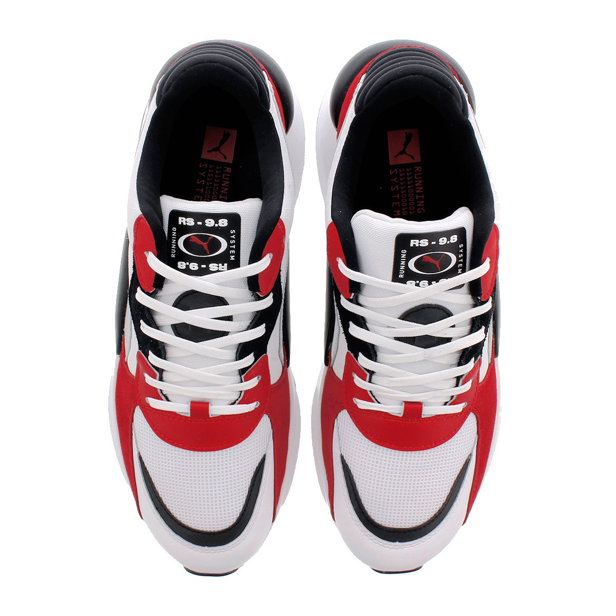 PUMA RS 9.8 Space Sneakers White High Risk Red (370230 01)