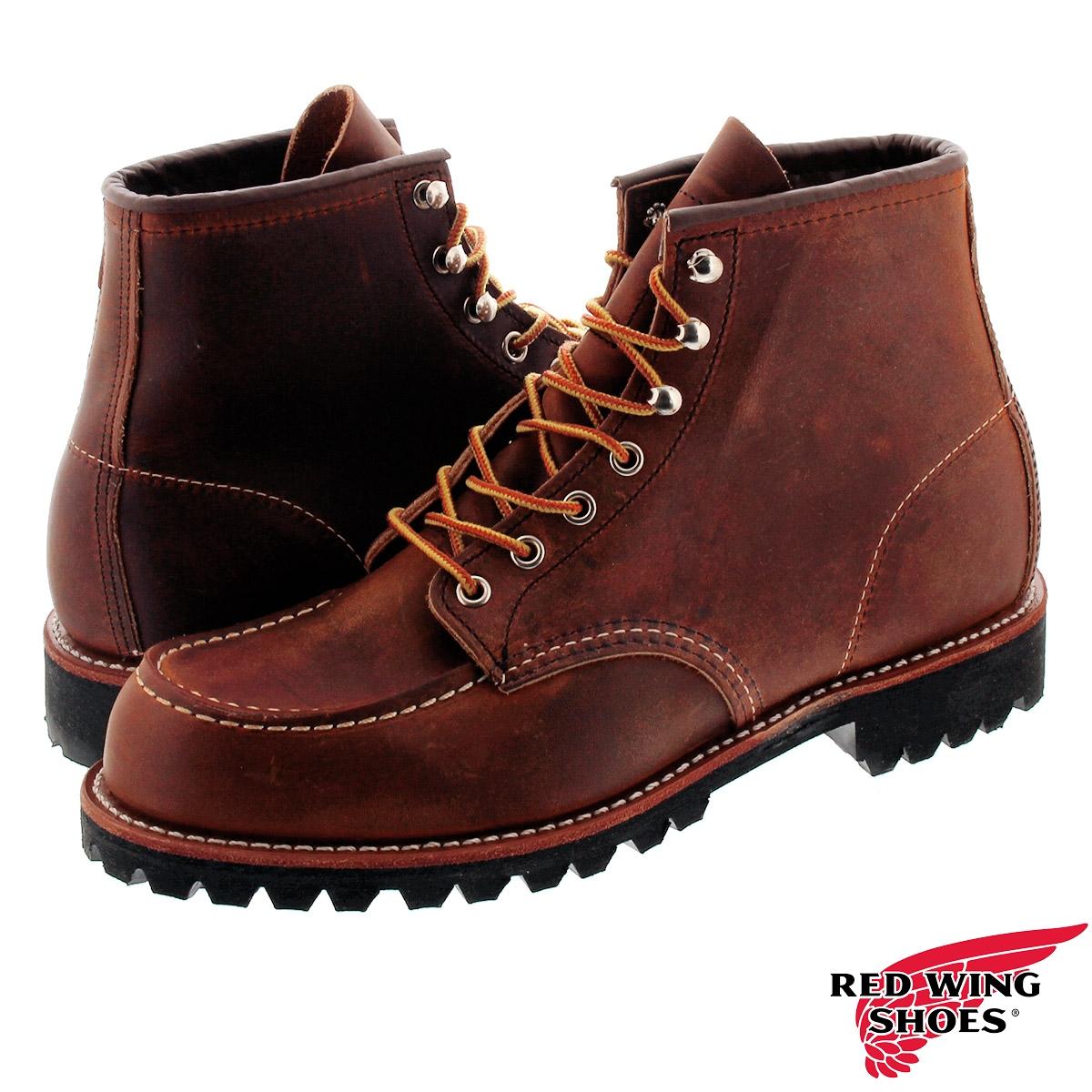 【ビッグ・スモールサイズ】 RED WING ROUGHNECK 6-INCH BOOT レッドウィング ラフネック 6 インチ ブーツ BROWN rw-2942
