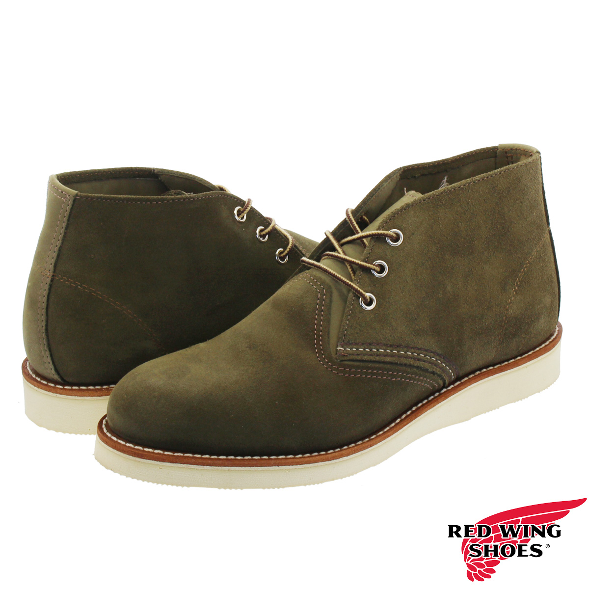 RED WING WORK CHUKKA 【Dワイズ】 レッドウィング ワーク チャッカ LODEN ABILENE LEATHER rw-3152