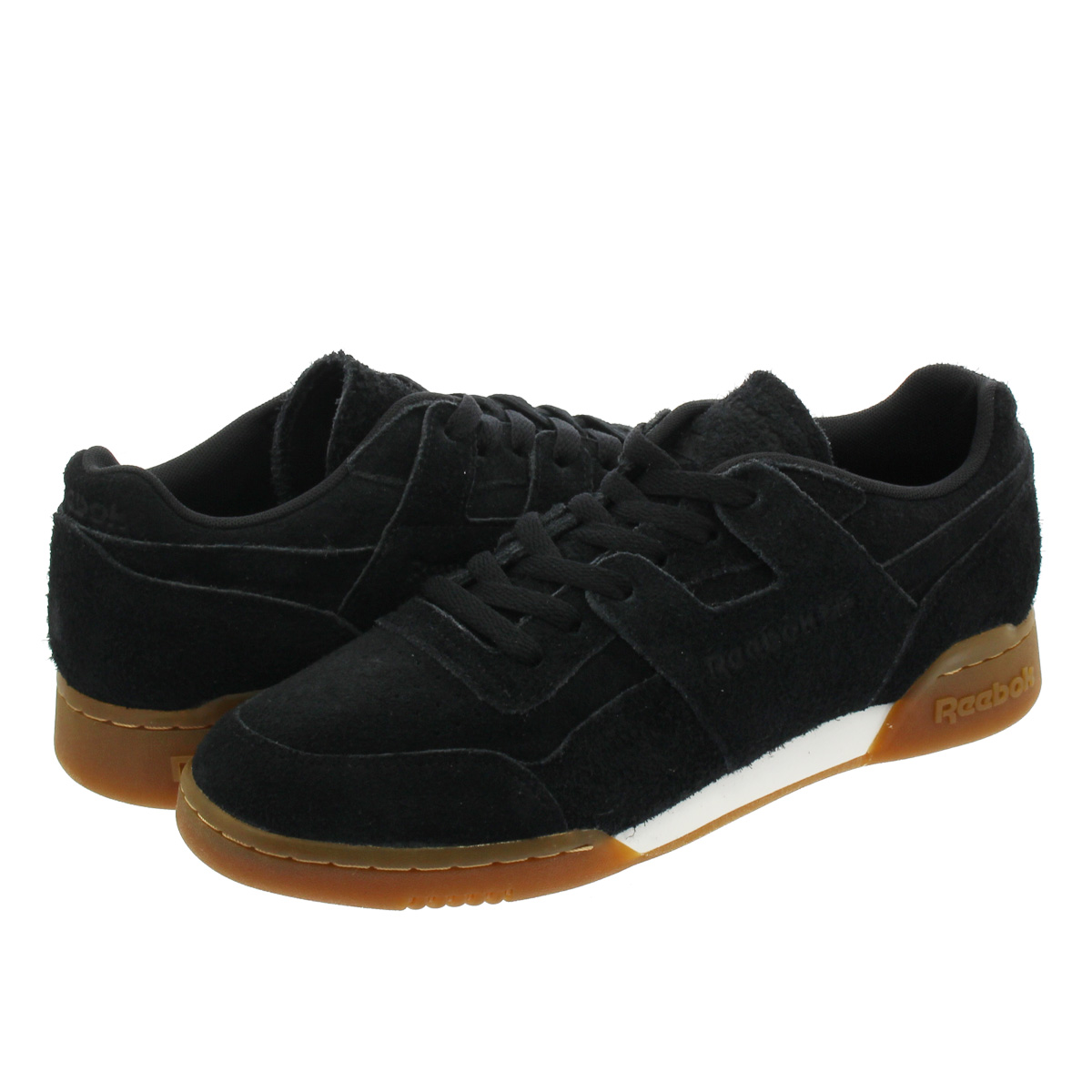 Reebok WORKOUT PLUS SUEDE リーボック ワークアウト プラス スエード BLACK/GUM cn3756
