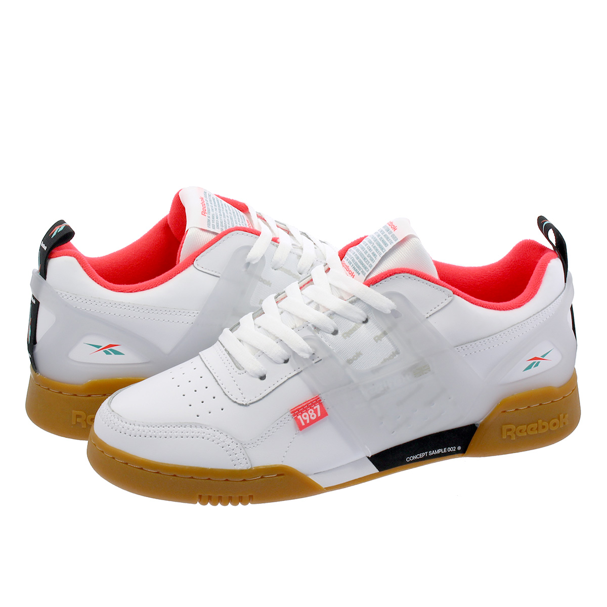 super cheap compares to hot-selling fashion release date: Reebok WORKOUT PLUS ATI Reebok practice game plus ATI WHITE/BLACK/NEON  RED/MINERAL MIST dv5243