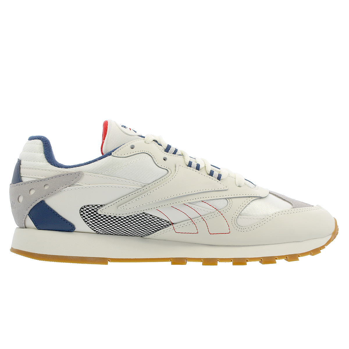 Reebok CL LTHR ATI 90 S Reebok classical music leather Orr terthe icon CHALK SKULL  GREY WASHED BLUE PRIMAL RED dv5372 3b38c090d