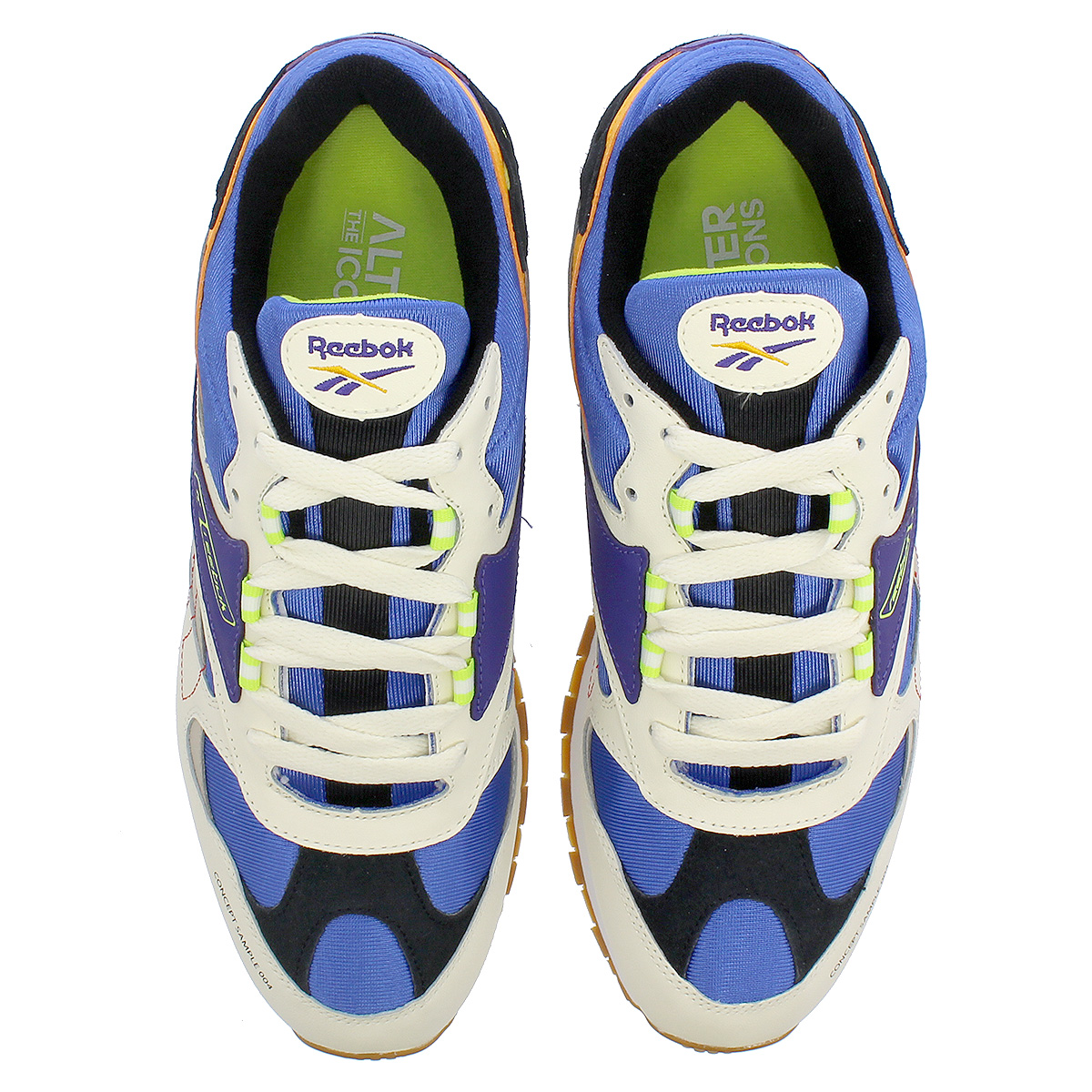 Reebok CL LTHR ATI 90 S Reebok classical music leather Orr terthe icon CREAM  SAND COBALT PURPLE GOLD LIME dv5374 75bbe7d17