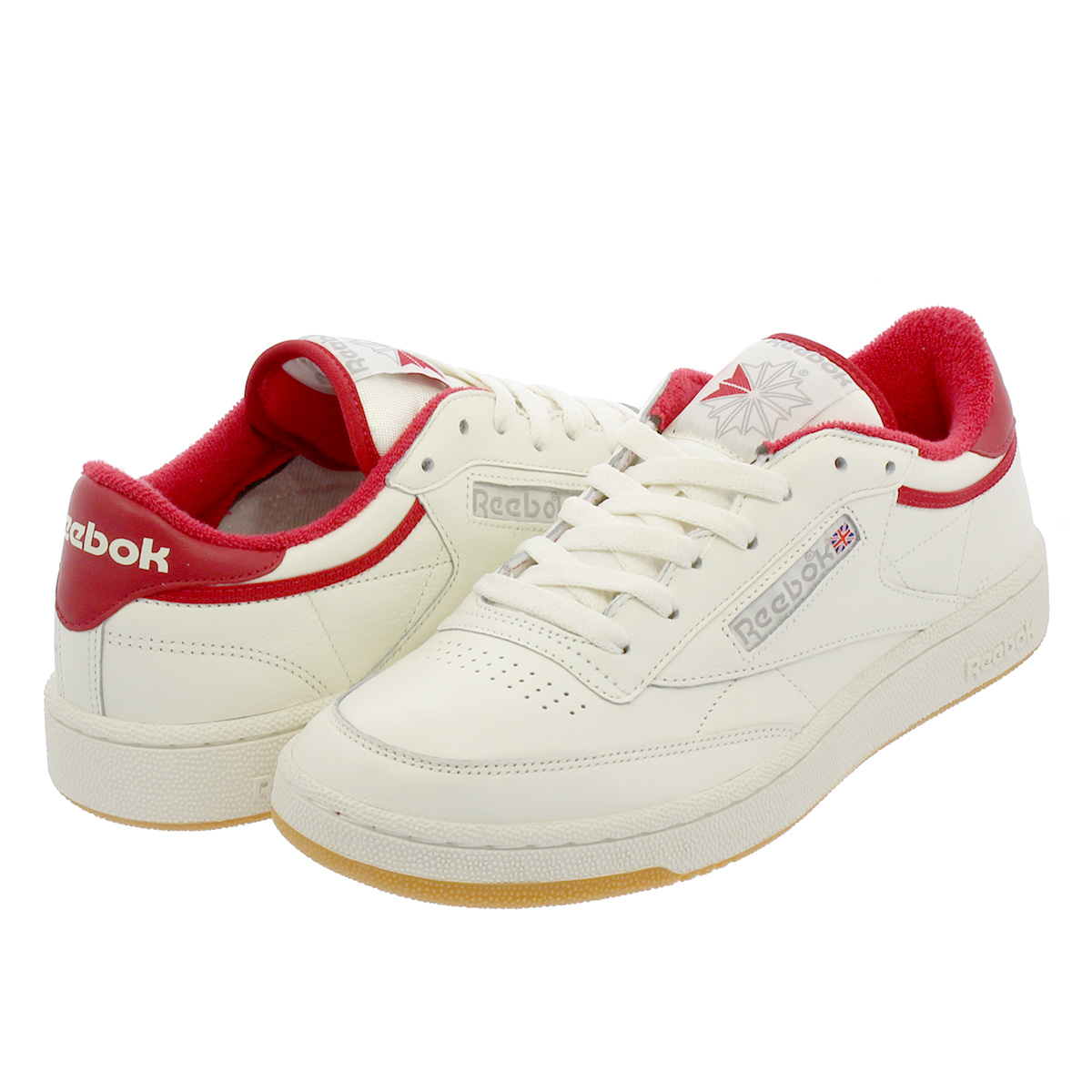 SELECT SHOP LOWTEX  Reebok CLUB C 85 INNERSECT Reebok club C 85 VINTAGE OFF  WHITE EXCELLENT RED GREY dv6823  d2a873de6