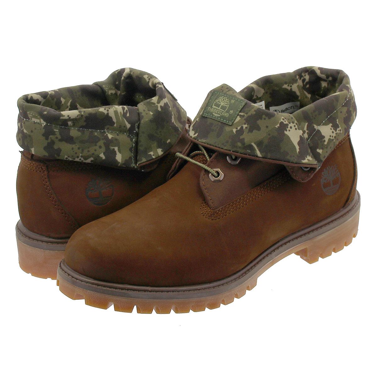 193c5336ac6 TIMBERLAND ROLL TOP BOOT Timberland roll top boot POTTING SOIL/GREEN CAMO  a21ap