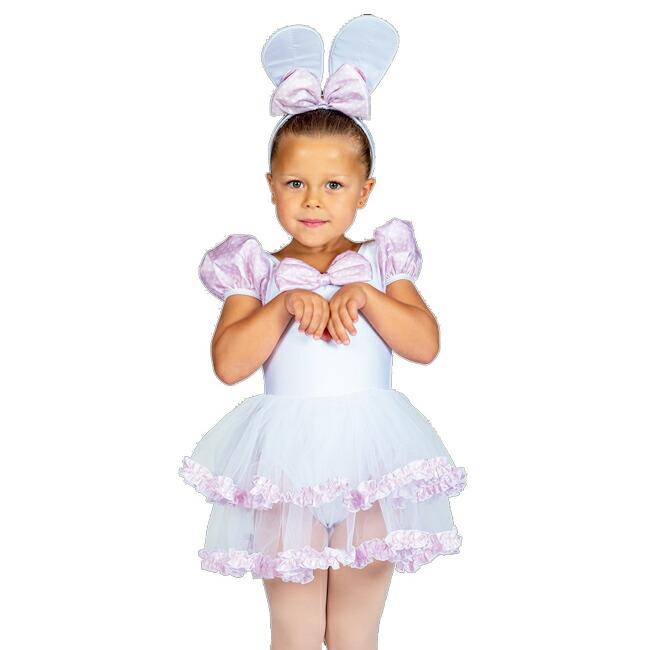 1点~大量注文まで承ります。バレエや各種ダンスに最適な華やか舞台衣装!子供用チュチュつきレオタード☆発表会やおさらい会に 【受注生産★ご予約後に製造開始】【子供用バレエ衣装】<キャラクター チュチュ ラビット>【バレエ レオタード 子供 こども キッズ ジュニア コスチューム カラフル チュチュ バレエ用品 コス パーティー プレゼント バレエ衣装 お遊戯会】