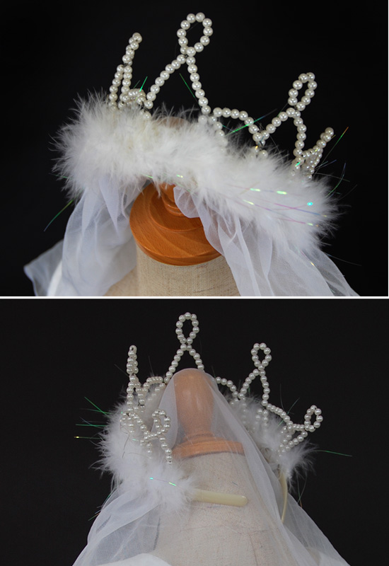White Veil Headband As If In Like A Bride