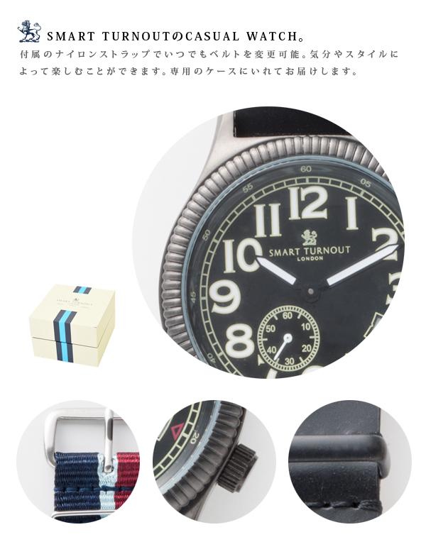 !スマートターンアウト腕時計 CASUALWATCH ナイロンストラップ付き【SMARTTURNOUT アクセサリー メンズ レディース とけい ベルト ナイロン レザー プレゼント ギフト ユニセックス】【楽ギフ_包装】