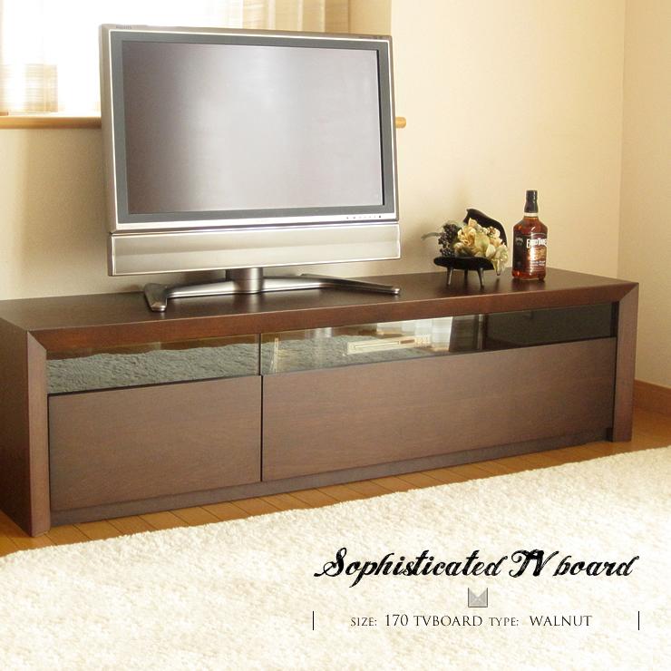 開梱設置無料 テレビ台 テレビボード 完成品 無垢 ウォールナット ホワイト オーク 170 センチ 幅 ナチュラル 木製 ブロンズ ガラス 170cm おしゃれ 送料無料